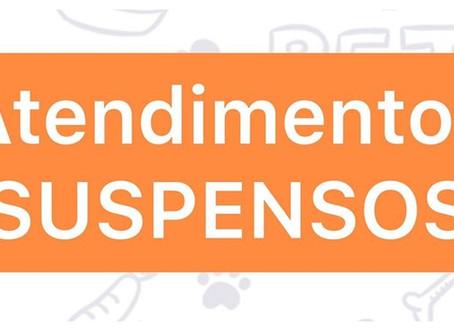 SUSPENSÃO de atendimentos - ONG OS SALVADORES