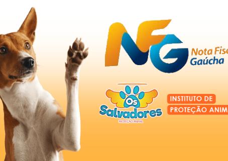 ONG OS SALVADORES é cadastrada nas entidades da NOTA FISCAL GAÚCHA