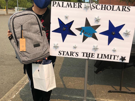Palmer Scholars Hosts Drive-Through Palmer Cares Package Distribution
