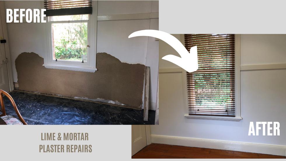 Lime & Mortar Plaster Repairs