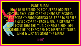 Check out what Jane says about Lights Out And Dance