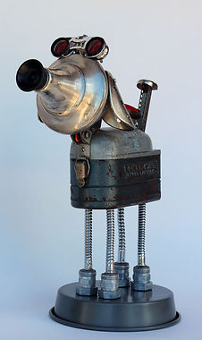 RR-218-19.jpg Dog Robot from antique flashlight, repurposed opera glasses, reused electical conduit, recycled shoe forms