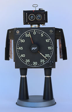 RR-215-19.jpg Robot art from vintage photo lab timer, vintage Ansco Rediflex camera, repurpoed office staplers,