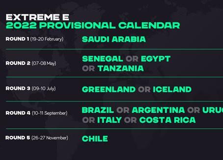 """""""Extreme E Reveals Provisional Season 2 Calendar"""""""