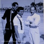 John on the left with Pedro Rodriguez and Stirling Moss