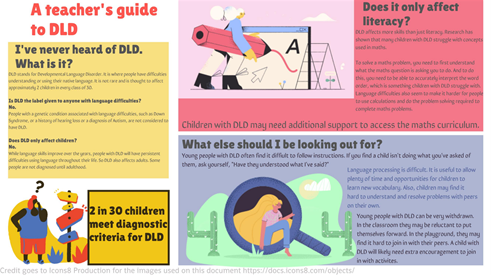 A teacher's guide to DLD page