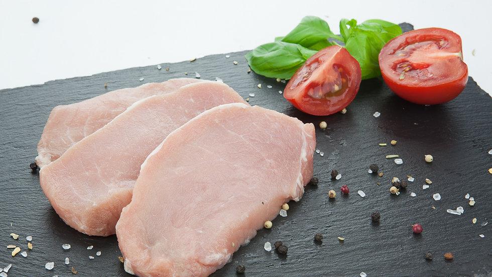 Bio Rückensteak (Lachs), Schwein
