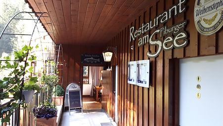Piburgersee, Restaurant am Piburger See, Eingang