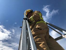 Climbing the 100' ladder