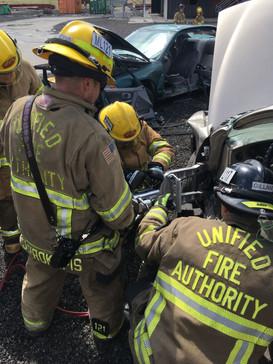 Vehicle extrication practice