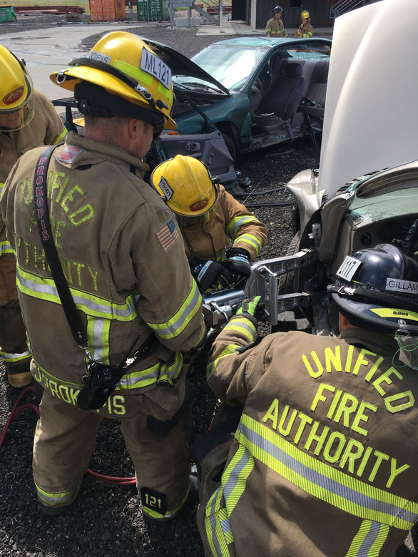 Vehicle extrication practice
