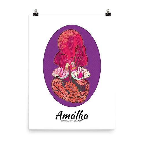 Plagát – Obraz Bábätko Holubice v ružovej