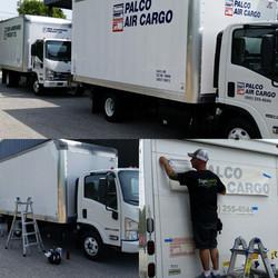Truck lettering for commercial transportation business