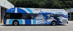 Husky bus wrap for Metro