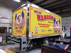 W.B. Mason box truck wrap