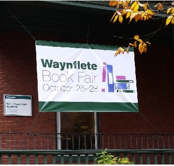 Vinyl banner for Waynflete School