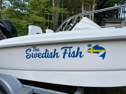 Custom boat name decal