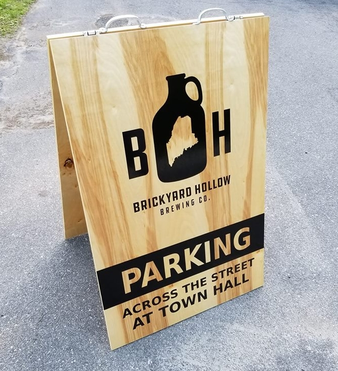 A frame sandwich board sign for restaurant business
