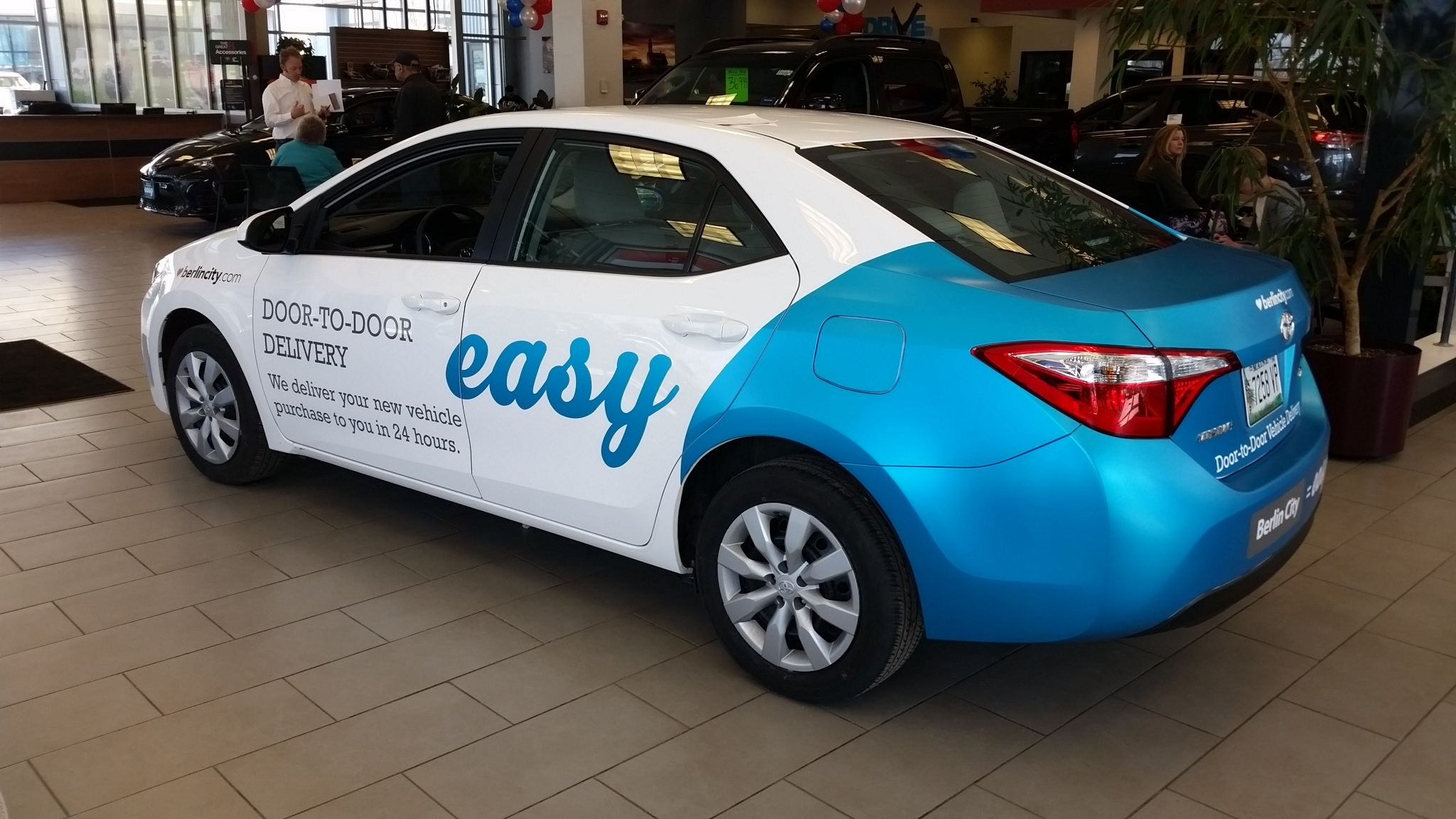Car wrap for Berlin City Auto Group