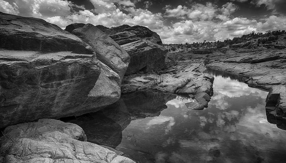 Margaret Kossowski - Rocks, Water, Cloud - MERIT