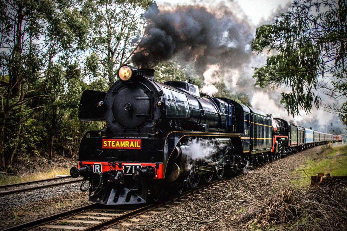 Judy Keegan Vintage Steam train MERIT