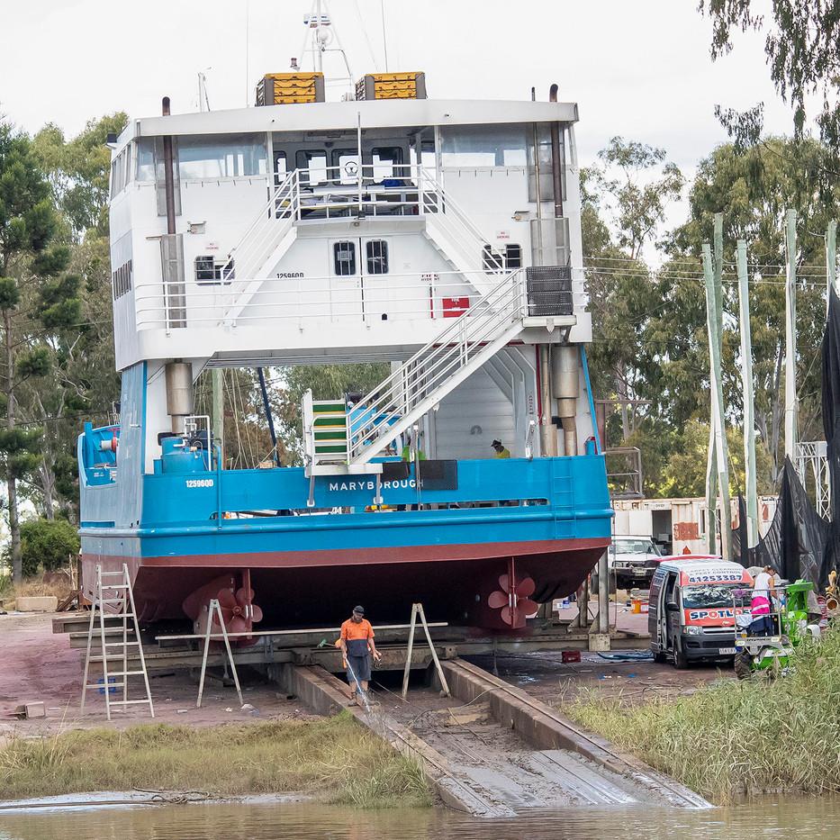 Warren Thomson - Barge in dry dock HONOUR