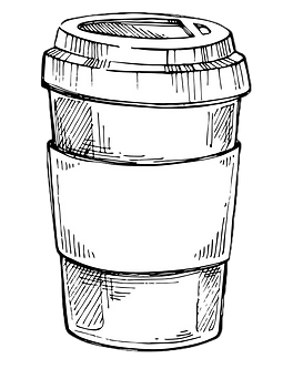 take-out-coffee-cup-freehand-pencil-draw