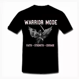 Warrior Mode Short Sleeve TShirt Black