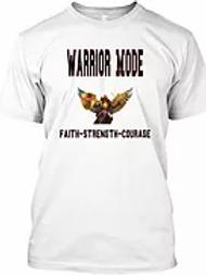 Warrior Mode Short Sleeve T shirt - White