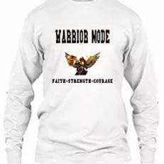 White Warrior Mode Long Sleeve- White