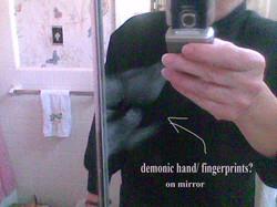 finger prints on mirror