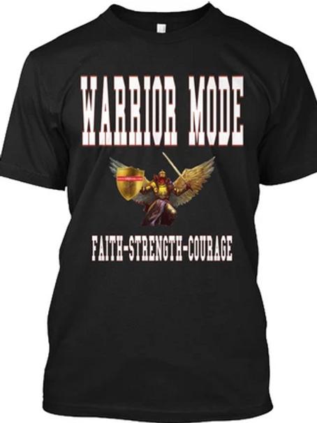 Black Warrior Mode Long Sleeve- Black and White
