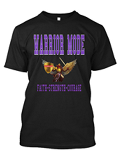 Black and Purple Warrior Mode Long Sleeve Tshirt