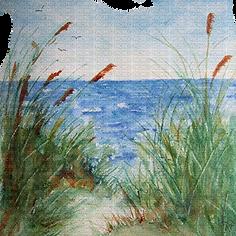 water color beach scene