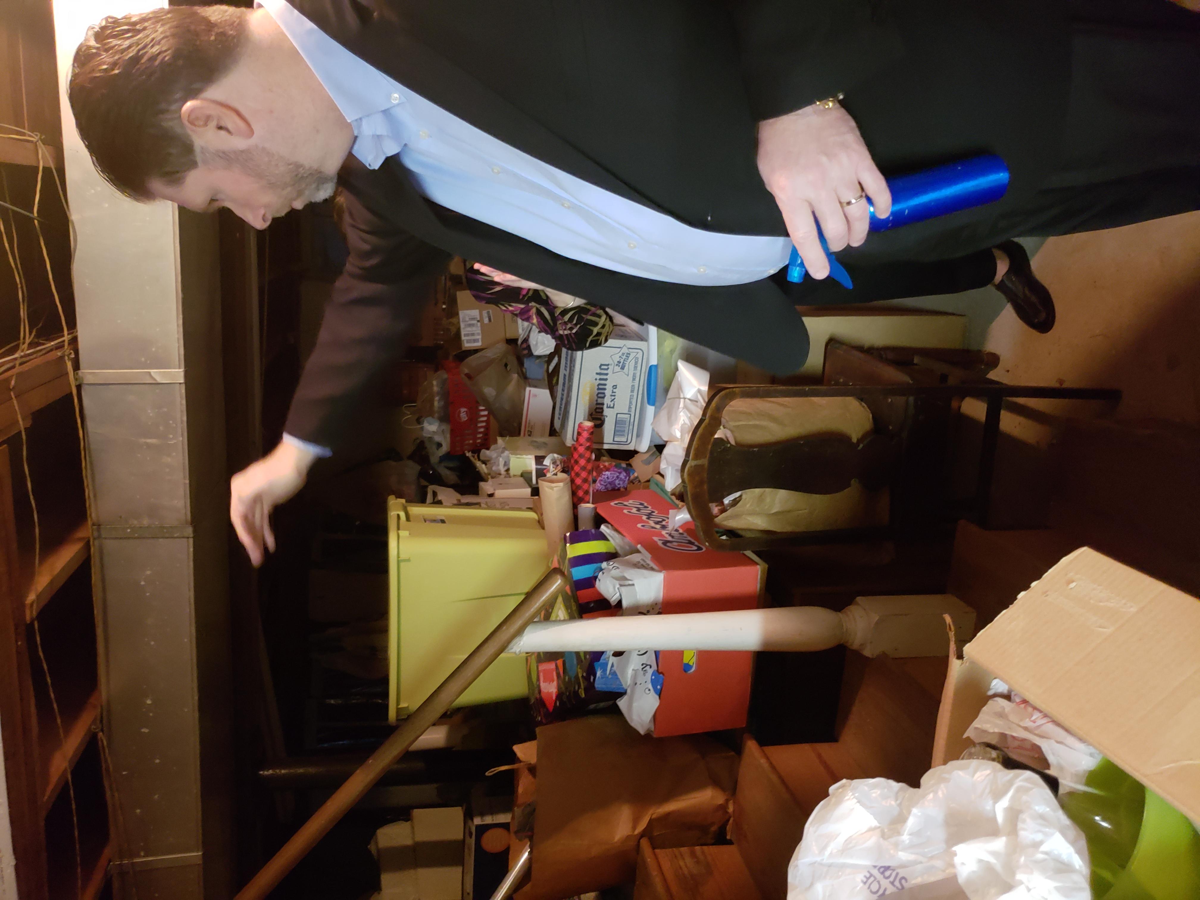 Bill in basement-battle begins