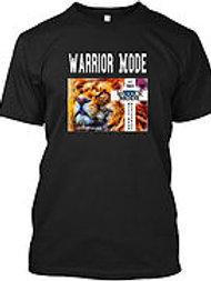 Warrior Mode Short Sleeve - Lion with Cross - Black
