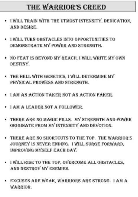 Warriors Creed