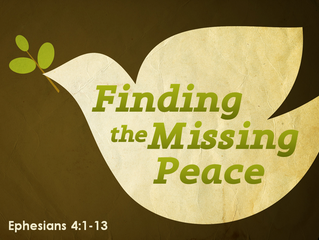 A Prayer for Missing Peace By Mary Southerland
