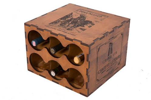 Adega modular - 6 garrafas