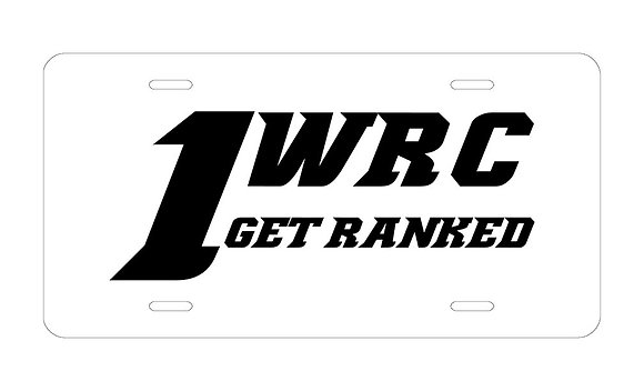 1WRC  Logo #3 License Plate
