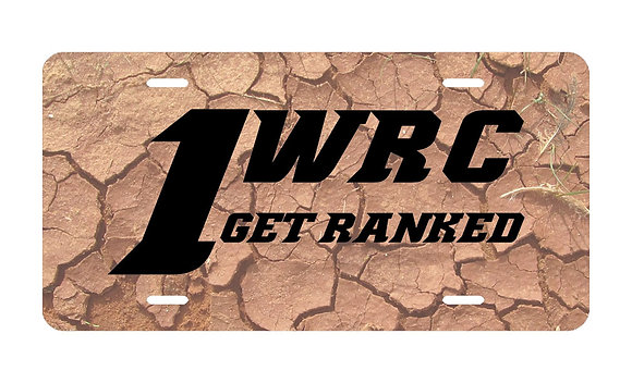 1WRC Clay Logo #3 License Plate