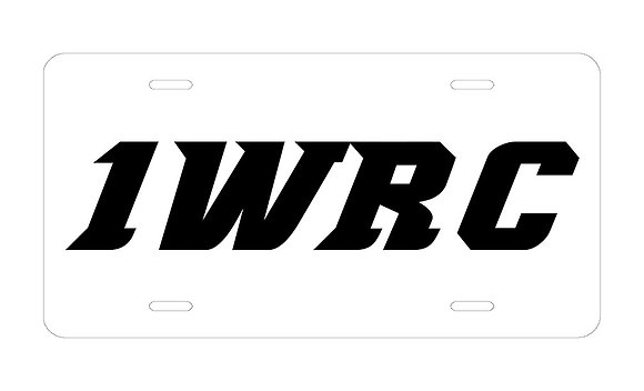 1WRC Logo #2  License Plate