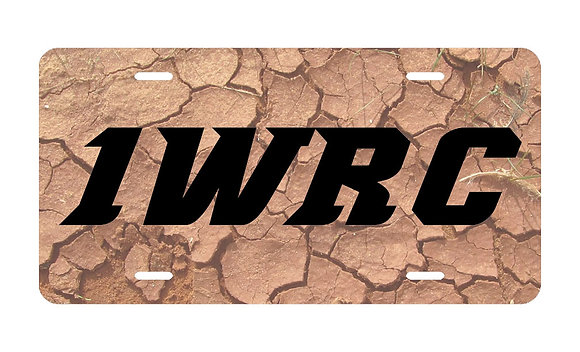 1WRC Clay Logo #2 License Plate