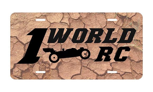 1WRC Clay Logo #1 License Plate