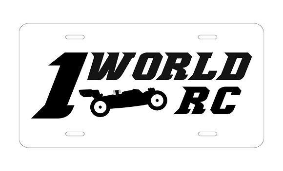 1WRC Logo #1 License Plate