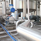 Pipes under tank with lobe pump