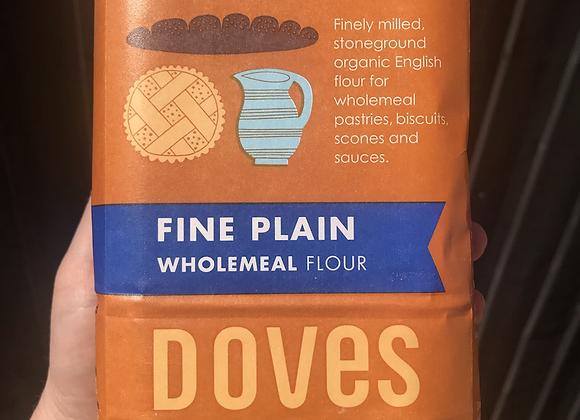 Organic fine plain wholemeal flour 1kg