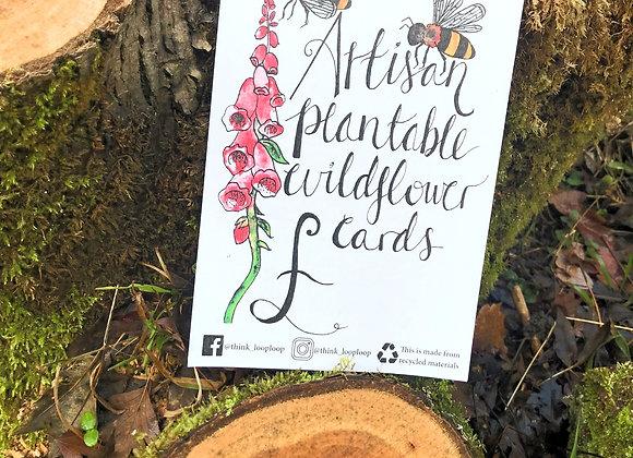 Wildflower Seed cards