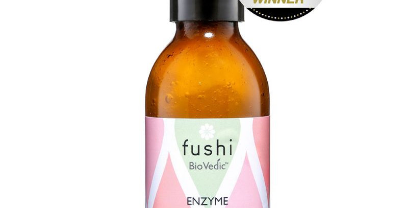 Fushi Enzyme face wash in amber glass bottle. Fill Them Up