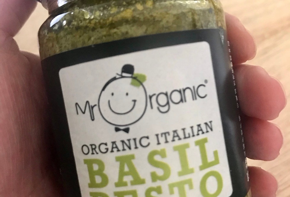 Organic Italian basil pesto